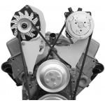 Alan Grove Small Block Chevy Long Water Pump A/C Compressor Bracket (Part # 101L)