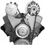Alan Grove Small Block Chevy Long Water Pump A/C Compressor Bracket (Part # 101R)