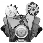 Alan Grove Small Block Chevy Long Water Pump A/C Compressor Bracket (Part # 103R)