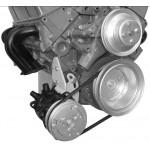 Alan Grove Small Block Chevy Long Water Pump Low Mount A/C Compressor Bracket (Part # 107R)