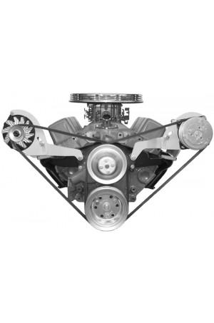 Alan Grove Small Block Chevy Short Water Pump A/C Compressor Bracket (Part # 113L SC)