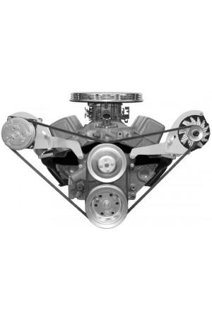 Alan Grove Small Block Chevy Short Water Pump A/C Compressor Bracket (Part # 113R SC)