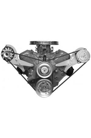 Alan Grove Big Block Chevy Short Water Pump Low Profile Style A/C Compressor Bracket (Part # 118L)