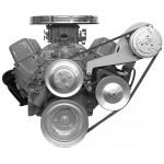 Alan Grove Small Block Chevy Long Water Pump A/C Compressor Bracket (Part # 119L)