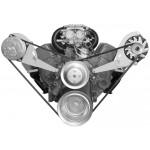 Alan Grove Small Block Chevy Long Water Pump A/C Compressor Bracket (Part # 123R)