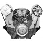 Alan Grove Small Block Chevy Long Water Pump A/C Compressor Bracket (Part # 130R)