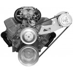 Alan Grove Small Block Chevy Long Water Pump A/C Compressor Bracket (Part # 137L)