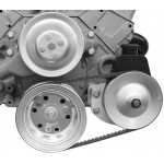 Alan Grove Small Block Chevy Short Water Pump Power Steering Pump Bracket (Part # 400L)