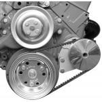 Alan Grove Small Block Chevy Short Water Pump Power Steering Pump Bracket for GM Type II Power Steering Pump (Part # 409L)