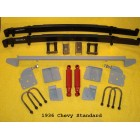Chassis Engineering Complete Leaf Spring Rear End Mounting Kit for Chevy Passenger Cars