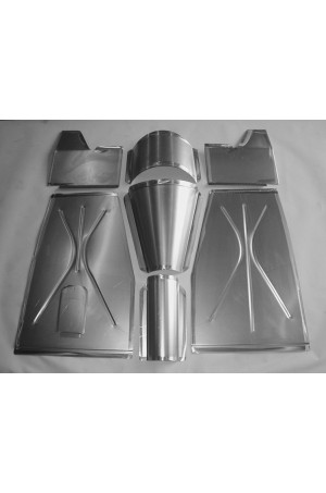 "Direct Sheetmetal FD134 Front Floor Kit for 1935-1940 Ford Passenger Cars with Our 3"" Recessed Firewall"