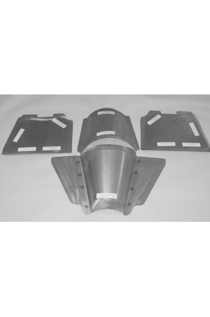 Direct Sheetmetal FD198SB Front Toe Boards, Transmission Tunnel, & Extension for 1935-1940 Ford Passenger Cars with Our Recessed Firewall & Stock Floor