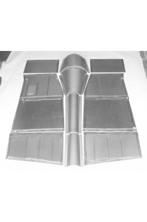 "Direct Sheetmetal FD251 Front & Rear Floorboard Kit for 1949-1951 Ford Passenger Car & Woodie with Our 3"" Recessed Firewall"