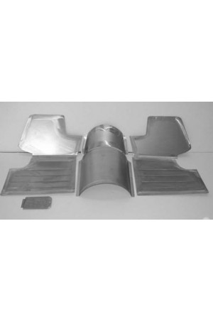 Direct Sheetmetal CVO267 Front Floor Kit for 1951-1954 Chevy & Oldsmobile Passenger Cars with Our Recessed Firewall