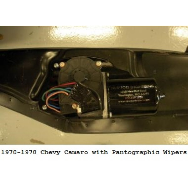 new port engineering 12 volt windshield wiper motor for chevy camaros