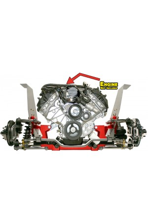 Total Cost Involved Coil-Over Independent Front Suspension for 1964.5-1970 Ford Mustang, 1967-1968 Mercury Cougar, and 1966-1967 Ford Fairlane with Big Block Ford and Modular Engines